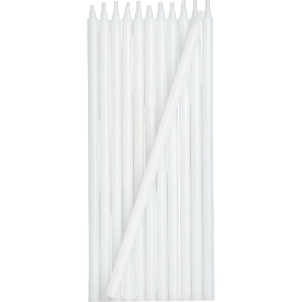 Set of 12 White Party Candles