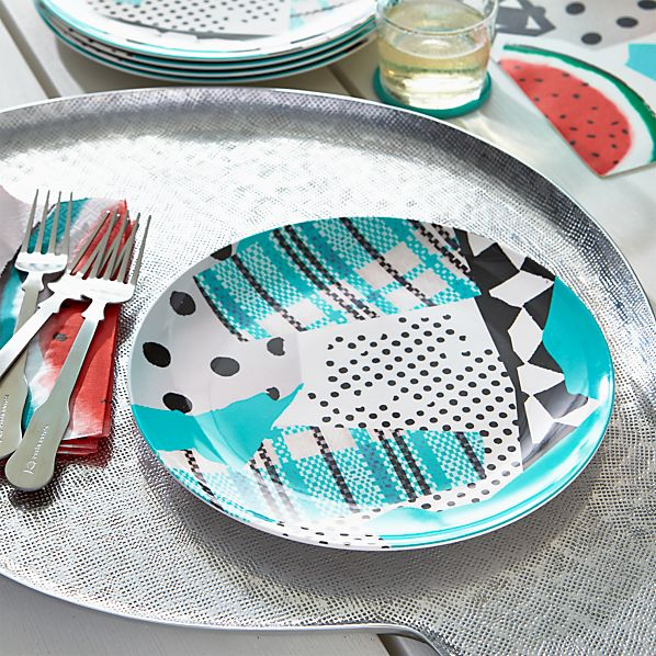 """Party Collage 10.5"""" Melamine Plate"""