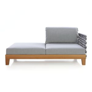 Party Right Arm/Left Arm Chaise Lounge with Webbing Arm