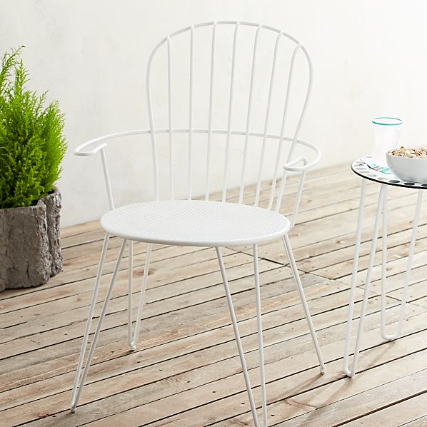Party Metal Perforated Seat Chair