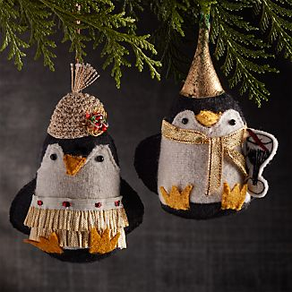 Party Penguin Ornaments