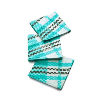 Party Plaid Paper Beverage Napkins Set of 20