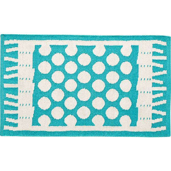 Party Turquoise Indoor-Outdoor 2'x3' Rug