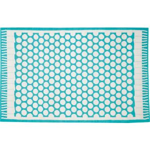 Party Turquoise Indoor-Outdoor 6'x9' Rug