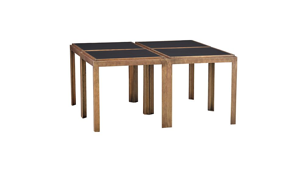 Parsons Coffee Table Crate And Barrel Set of 2 Pascal Bunching Tables   Crate and Barrel