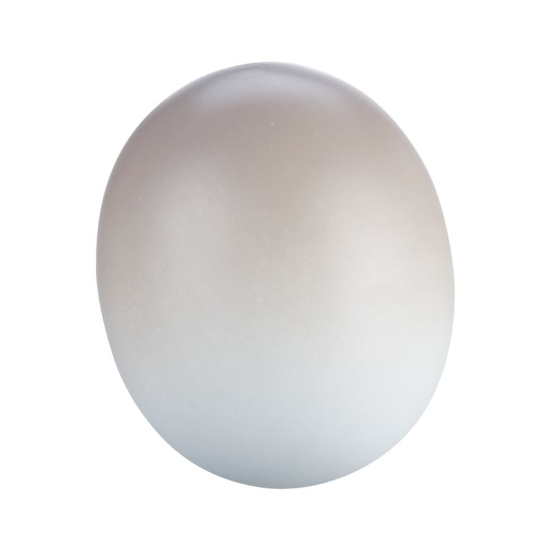 A herald of spring and new beginnings, gorgeous porcelain egg preserves the delicate beauty of the real thing, painted in graduated tones of soft taupe. Molded eggs are polished silky smooth and add fresh, natural beauty displayed together in a bowl with other pastel shades in the collection.<br /><br /><NEWTAG/><ul><li>Molded, polished, fired and painted porcelain</li><li>Dust with dry cloth</li><li>Made in China</li></ul>
