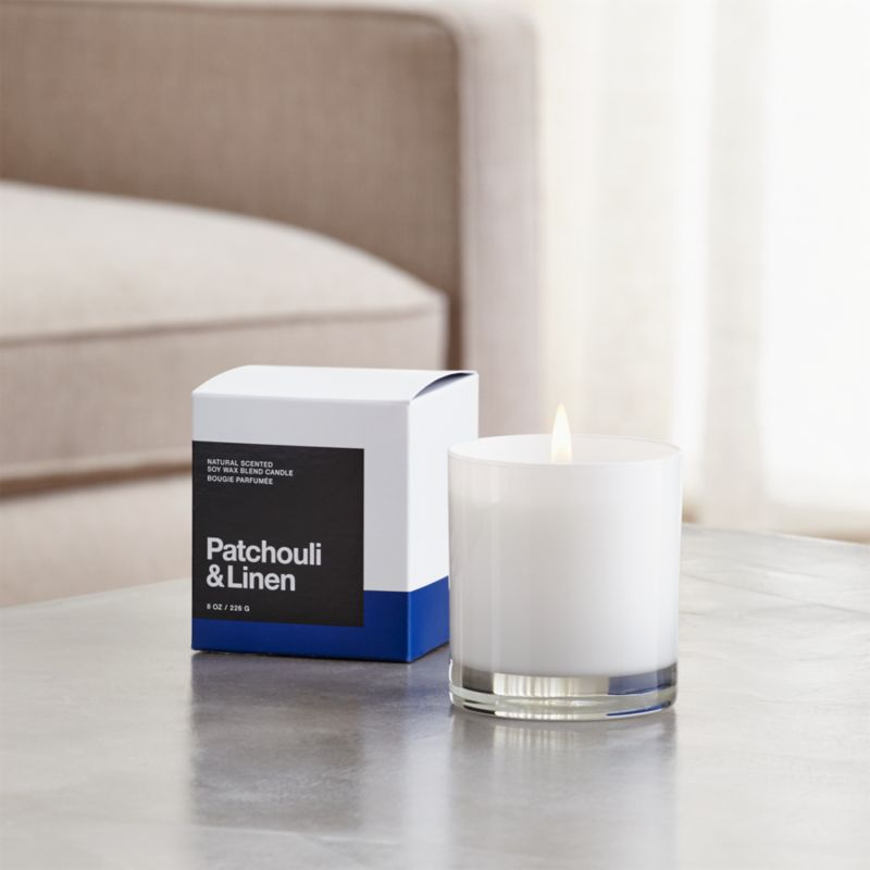 Patchouli and Linen Scented Candle