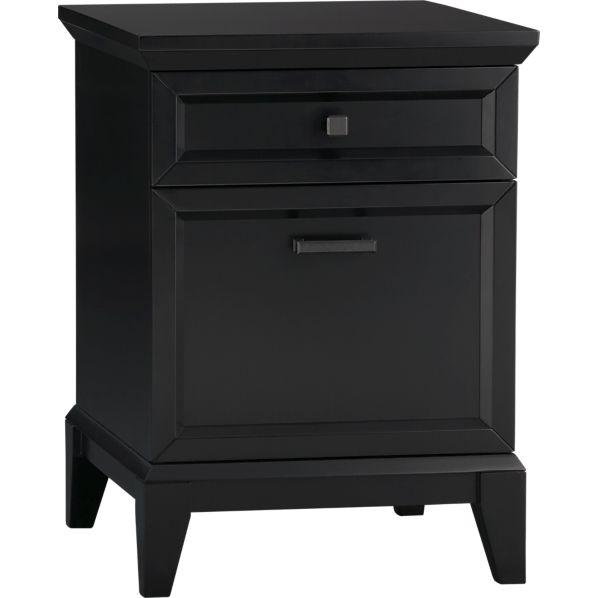 Paterson Black Filing Cabinet