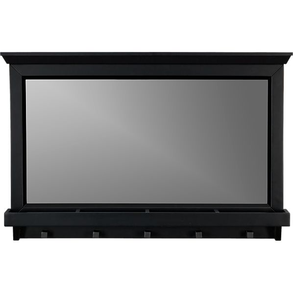 Paterson Black Wall Mirror