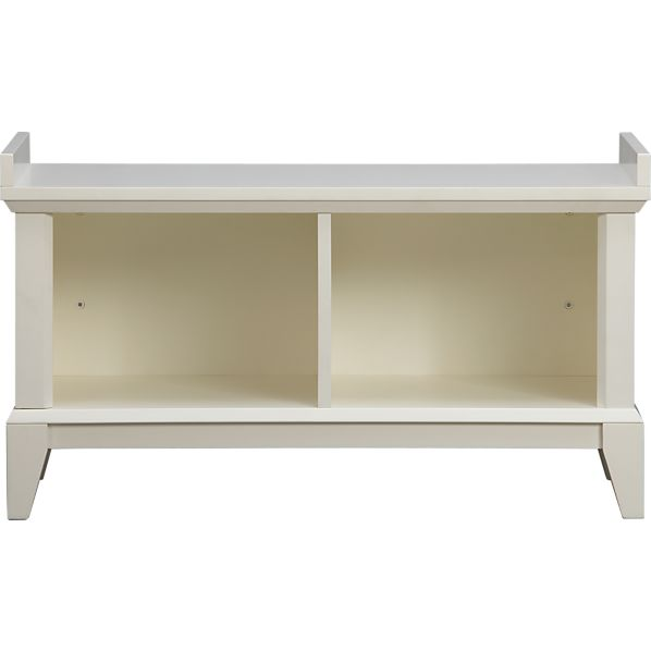 Paterson White Storage Bench
