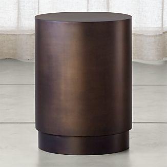 Patina Bronze Drum Table