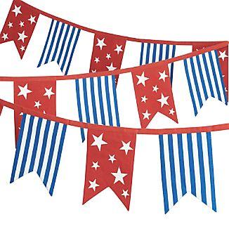 Patriotic Flag Pennant Banner