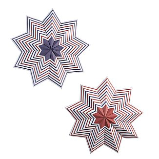 Set of 2 Patriotic Large Pinwheels