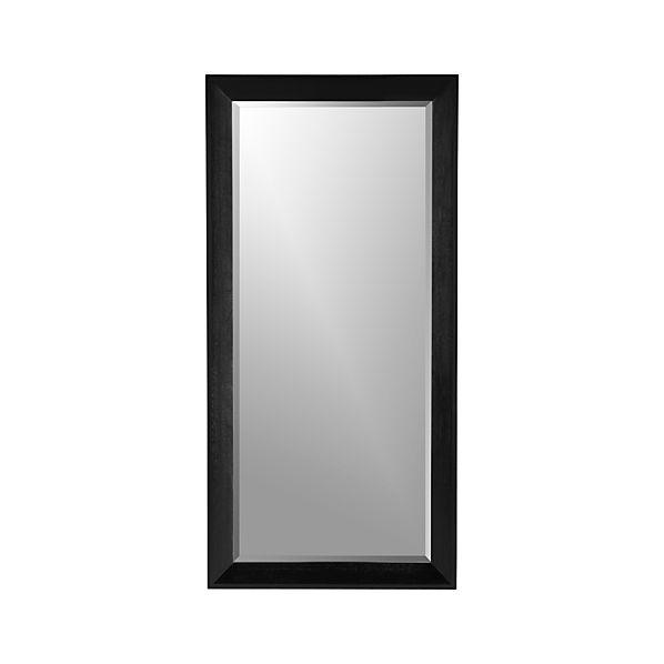 Pavillion Black Floor Mirror