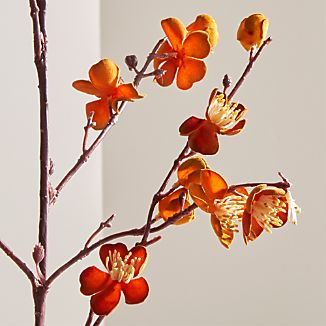 A realistic spray of crafted flocked blossoms adds delicacy and color to faux and dried arrangements.