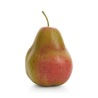 Blushing with perfection, this beautiful faux pear captures the luscious color and organic form of ripe fruit. Display alone or create a bounteous display with multiples heaped in a centerpiece bowl.