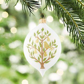 Pear Tree Drop Ornament