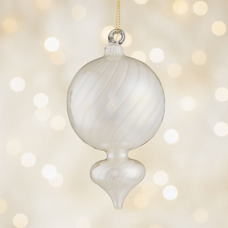 Pearl Ivory Onion Ornament