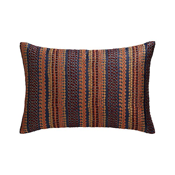 "Pearl Strings 18""x12"" Pillow with Feather-Down Insert"