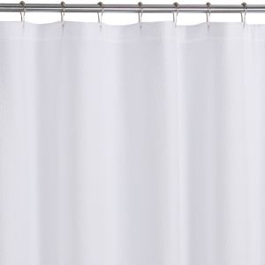 Pebble Matelasse White Shower Curtain