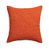 "Pebble Orange 18"" Pillow with Down-Alternative Insert"
