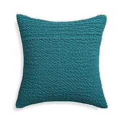 "Pebble Teal Blue 18"" Pillow with Down-Alternative Insert"
