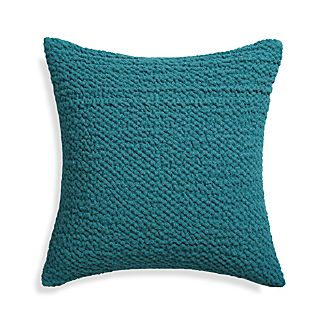 "Pebble Teal Blue 18"" Pillow"