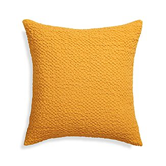 "Pebble Yellow 18"" Pillow with Down-Alternative Insert"