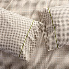 Set of 2 Pebble Taupe Standard Pillow Cases