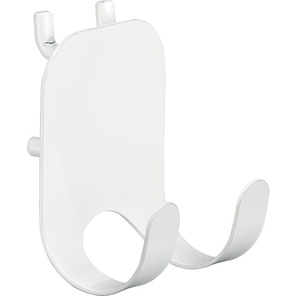 three by three ® Peggy White Double Hook