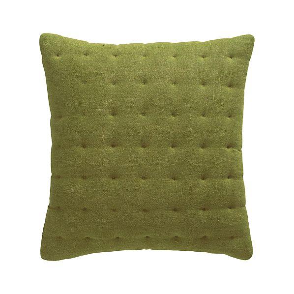 "Pelham Green 20"" Pillow with Feather-Down Insert"