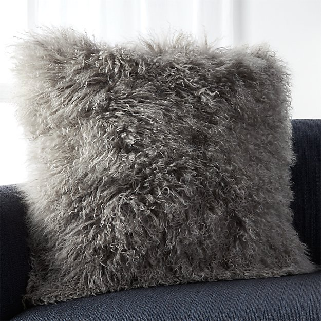 Pelliccia Silver Grey 23 Quot Pillow With Feather Down Insert