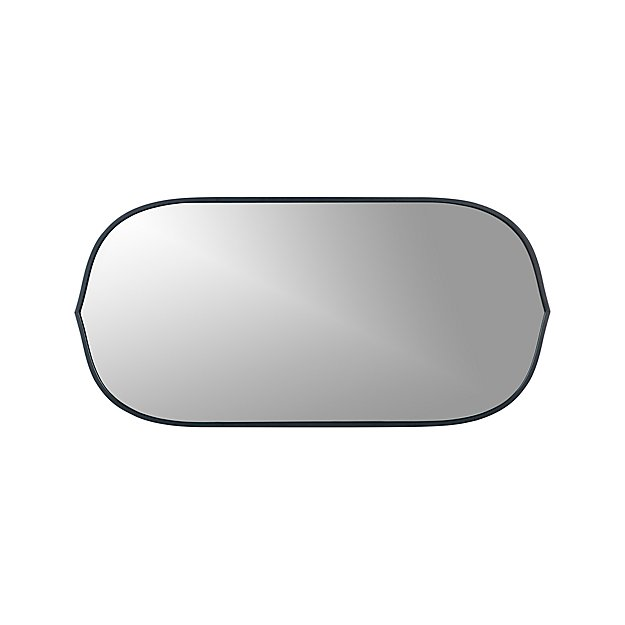 Penarth Indigo Oval Wall Mirror