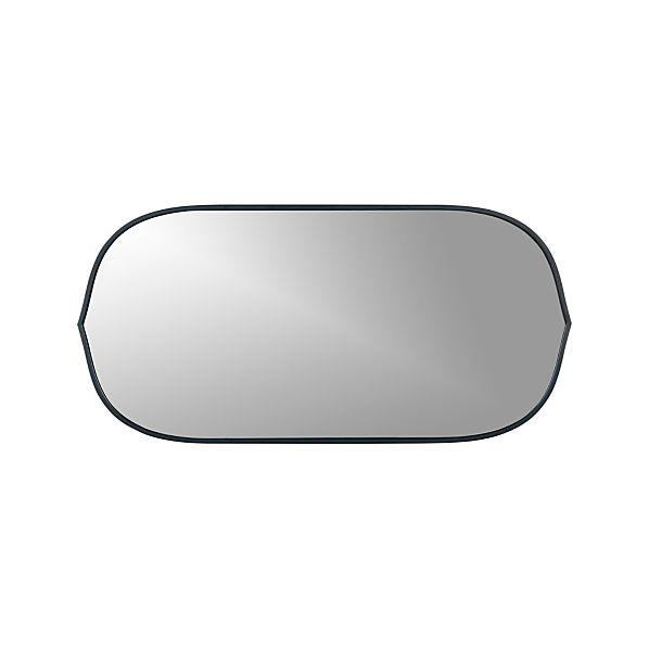 Penarth Indigo Oval Wall Mirror