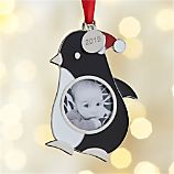 Penguin Photo Frame with 2015 Charm Ornament