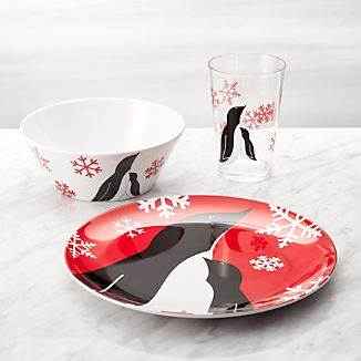 Penguin Kids 3-Piece Melamine Place Setting