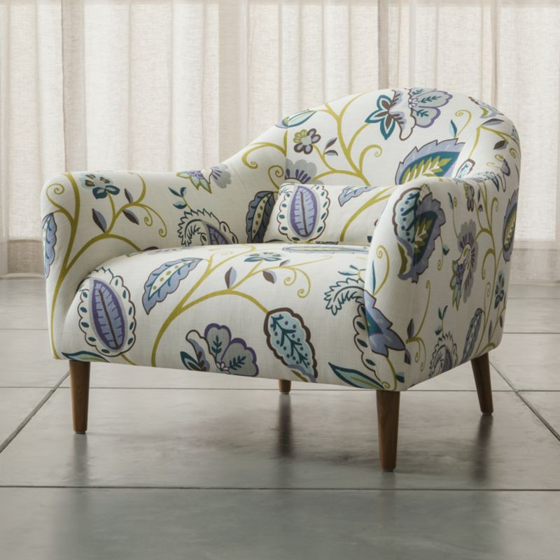 By London-based designer Bethan Gray, named Best British Designer 2013 by the British Design Awards, this affordable furniture collection for small rooms and apartments features sleek curves that flare out to invite you in. Every turn of the chair's graceful tight back and plush seat is hugged by a textured, linen-blend weave, with a coordinating kidney pillow to support your lower back.  <NEWTAG/><ul><li>Designed by Bethan Gray</li><li>Frame is made with a certified sustainable solid wood and engineered hardwood</li><li>Sinuous wire spring and synthetic web suspension systems</li><li>High-resiliency, high-density foam and polyfiber back and seat cushions</li><li>Fiber-down blend kidney pillow encased in downproof ticking</li><li>Solid white oak legs with clear lacquer finish</li><li>Material origin: see swatch</li><li>Made in China</li></ul>
