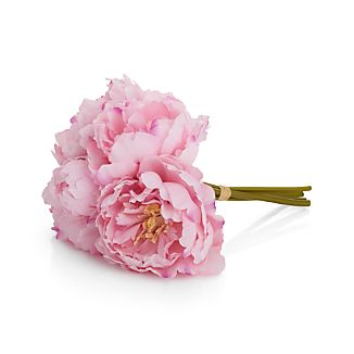 When lush, fragrant peonies are in bloom, summer can't be far behind. Preserve the moment with our gorgeous bunch of pink peony flower artificial stems, each realistically detailed with a profusion of delicate petals.