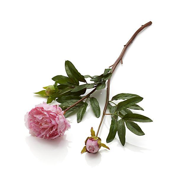 Pink Peony Artificial Flower Stem