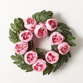 Peony Artificial Flower Wreath