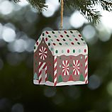 Peppermint House Wooden Ornament