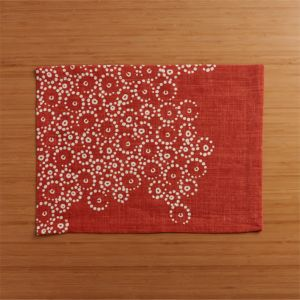 Perla Orange Placemat