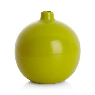 Perry Round Green Vase