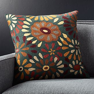"Pershall 20"" Floral Pillow"