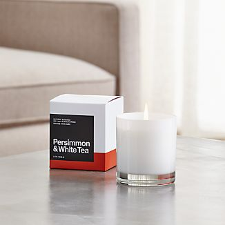 A flicker of fragrance to renew home and spirit. Our exclusive collection of handpoured, soy-blend candles brings together unique scent pairings to express your style and mood. Tangy persimmon and delicately sweet white tea mingle with essences of grapefruit, peach, pineapple, jasmine, banana leaf, honeydew, coconut, orange, lime and white florals.