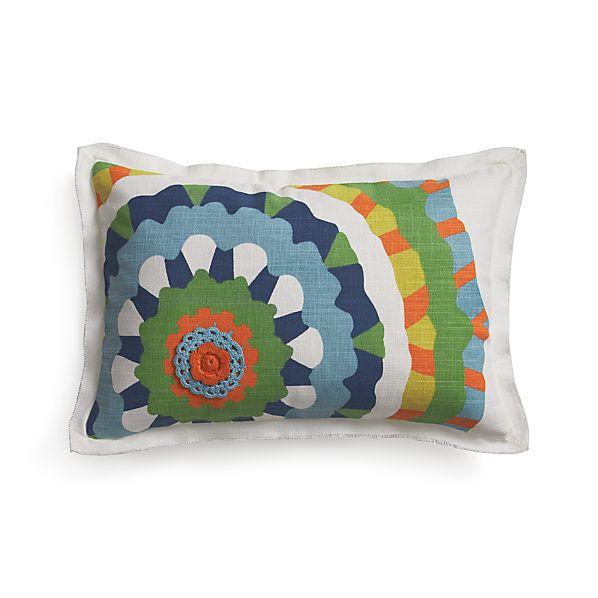 "Petal 20""x13"" Pillow with Down-Alternative Insert"