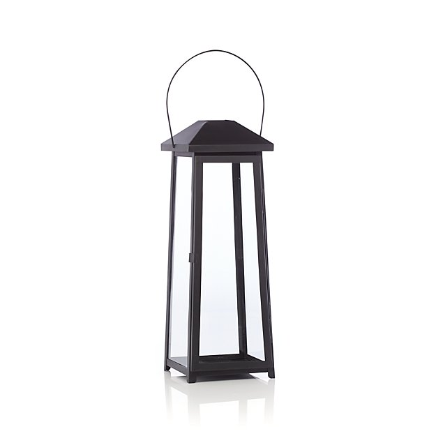 Petaluma Large Black Metal Lantern