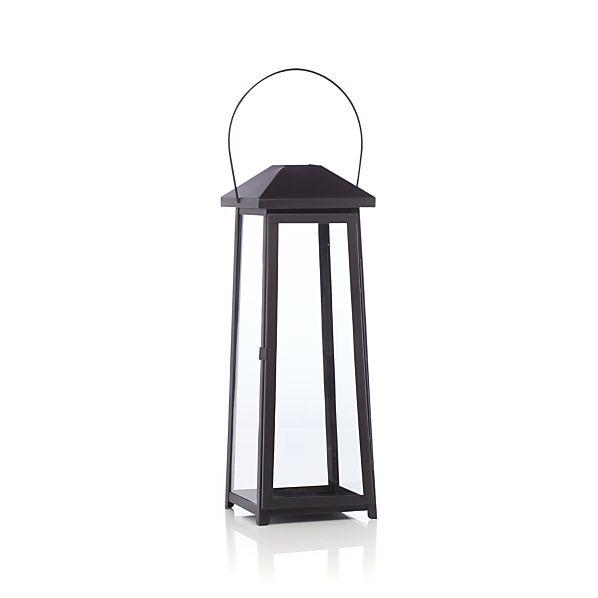 Petaluma Large Black Metal Lantern