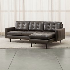 Petrie Leather 2-Piece Sectional Sofa