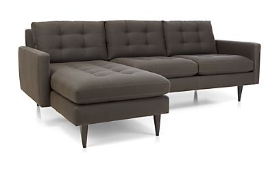 Petrie 2-Piece Sectional Sofa Camden: Graphite | Crate and ...